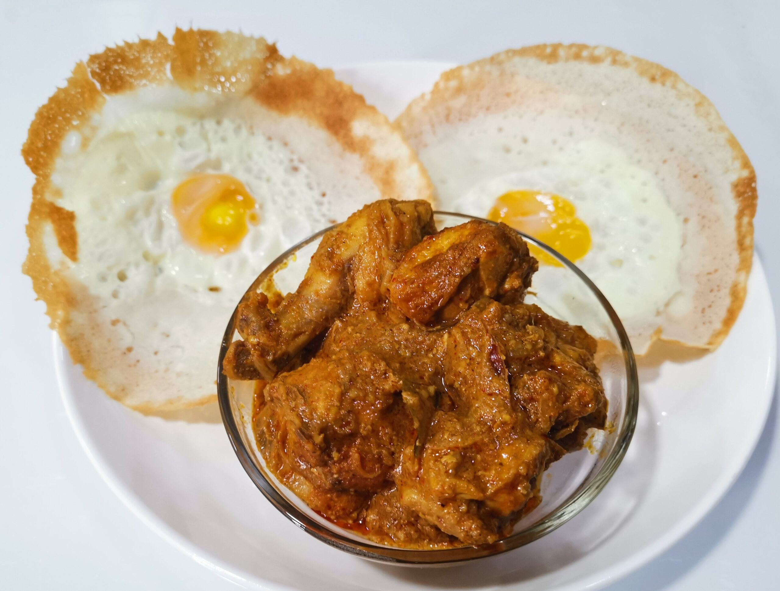 Egg Hopper with Chicken Dry Curry